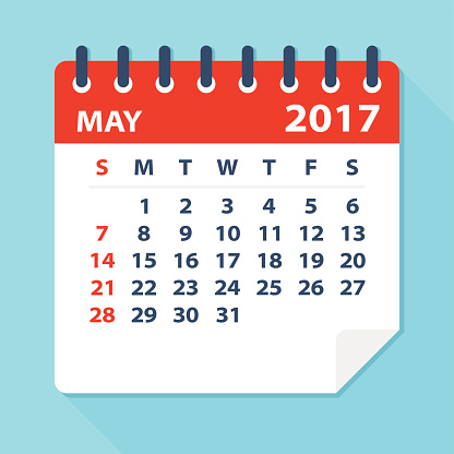 . Calendar clipart may 2017