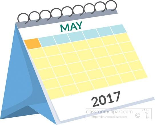 Desk white portal . Clipart calendar may 2017