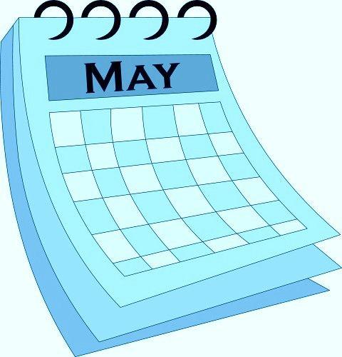 Calendars graphics vector arts. Calendar clipart may