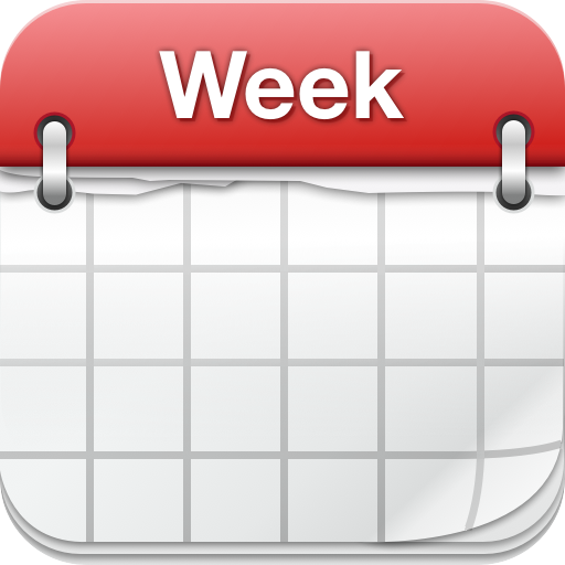 Popular ios app weekcalendar. Calendar clipart one week