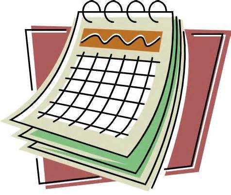 Calendar clipart one week. Joshua hyde public library
