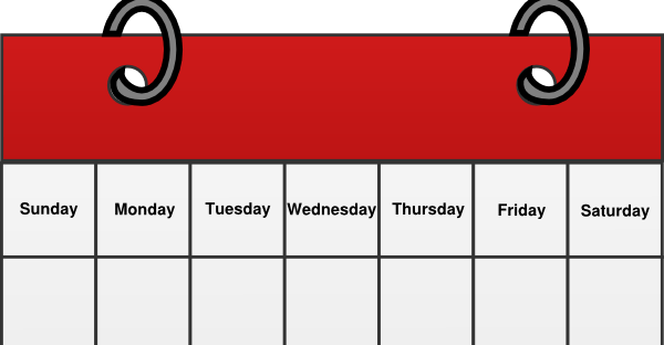Clipart calendar one week, Picture #2393272 clipart calendar one week