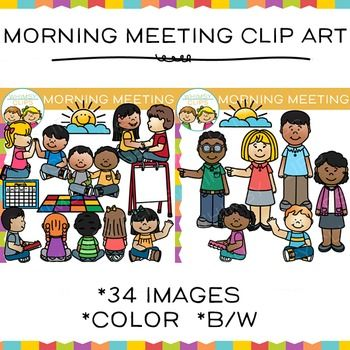 Morning meeting clip art. Calendar clipart preschool