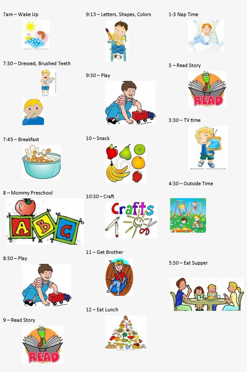 Daily schedule preschoolers png. Preschool clipart calendar