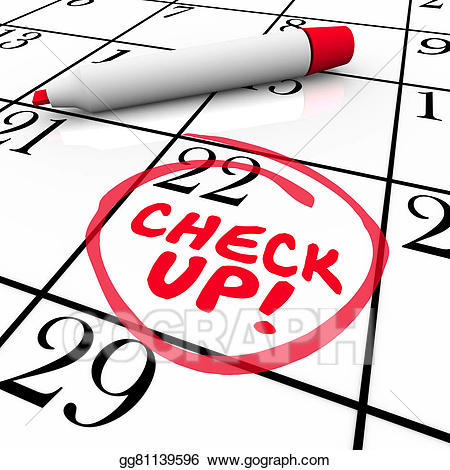 Stock illustration check up. Calendar clipart scheduling