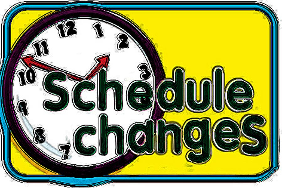 Calendar clipart scheduling. Schedule changes
