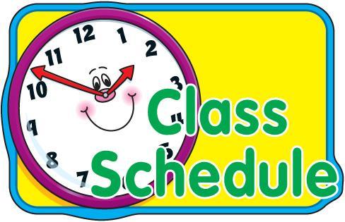 Calendar clipart scheduling. Daily classroom schedules incep