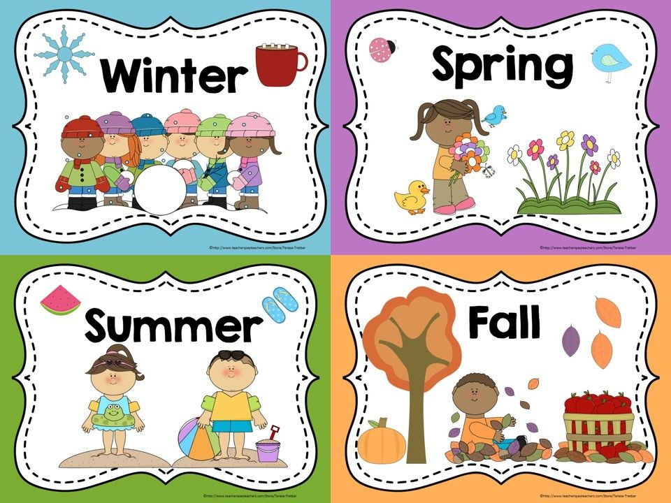 Display these free posters. Calendar clipart seasons