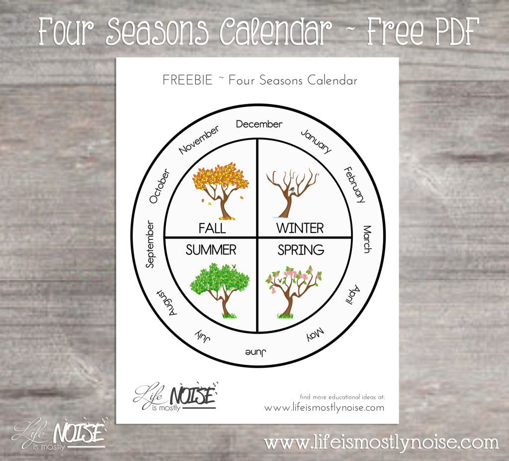 Free printable four wheel. Calendar clipart seasons