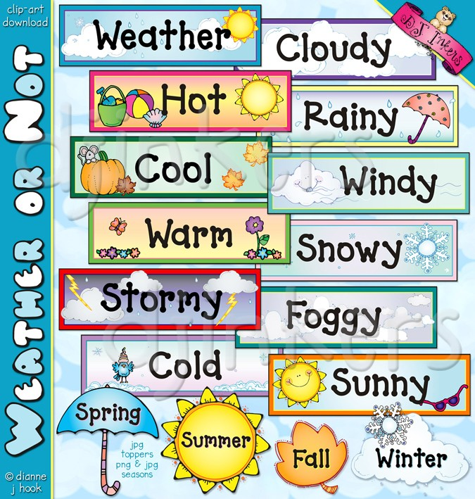Calendar clipart seasons. Weather toppers clip art