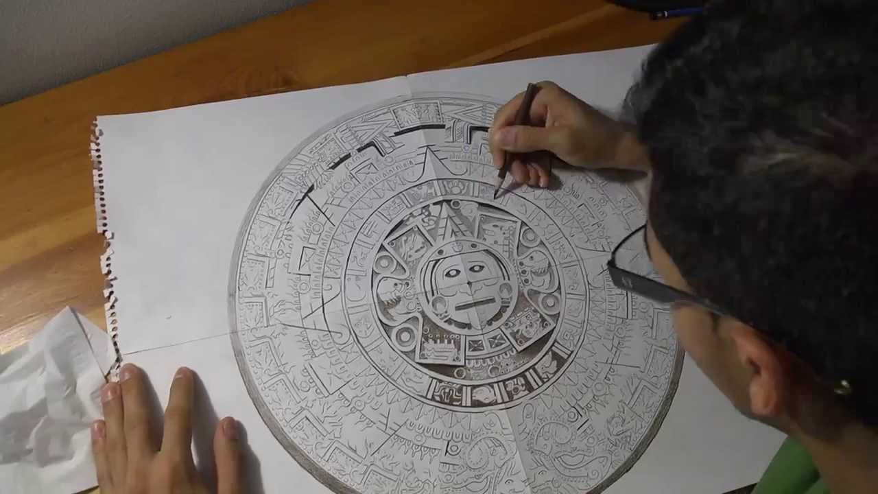 Calendar clipart sketch. Aztec drawing at getdrawings