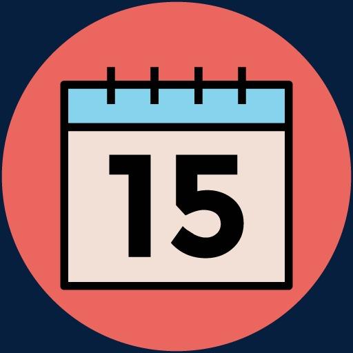 Calendar clipart sketch. Travel icon vector life