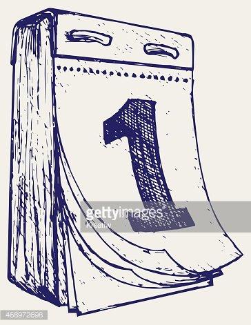 Tear off stock vectors. Calendar clipart sketch