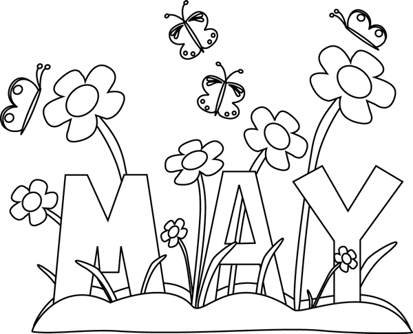 Calendar clipart sketch. Black and white month