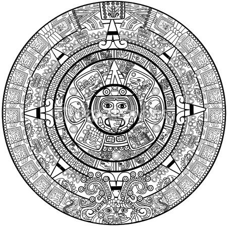 Calendar clipart sketch.  best mayan aztec