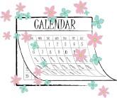 Calendar clipart spring. Customize months clip art