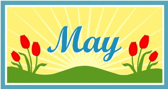 May pictures clip art. Calendar clipart spring