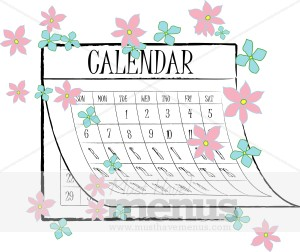 Calendar clipart spring. Menu graphics