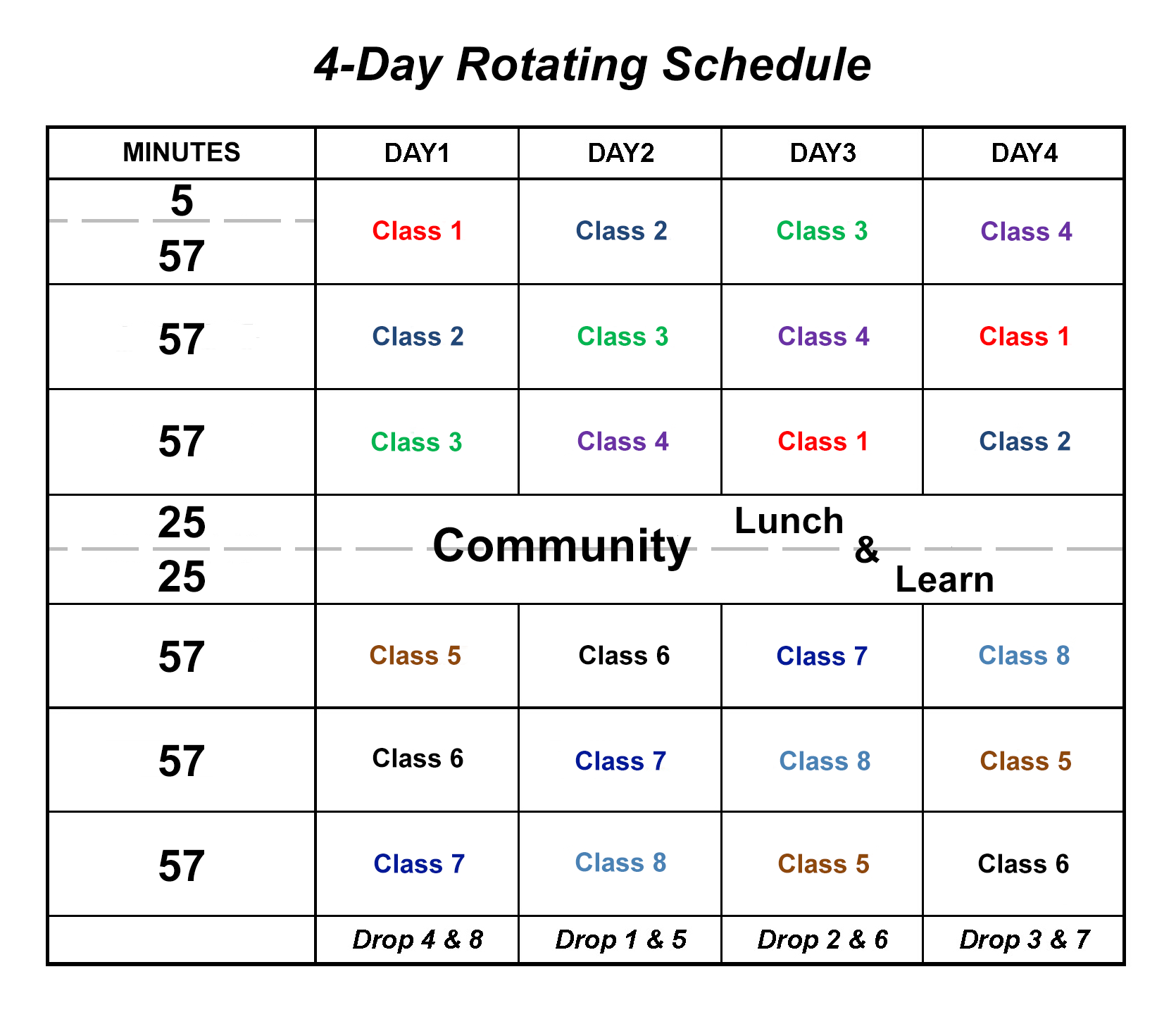 Calendar clipart student. Lenape high school overview