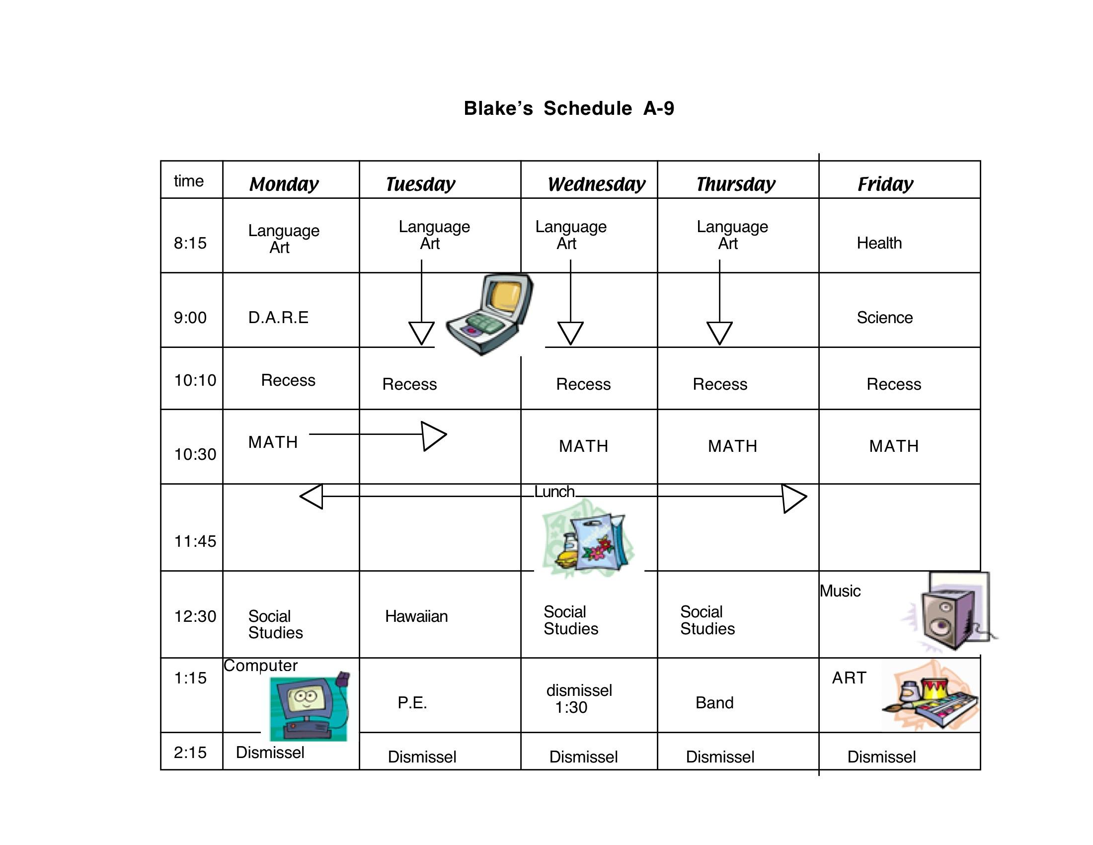 Free class cliparts download. Schedule clipart school schedule