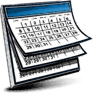 Calendar clipart teacher. Of events she glows