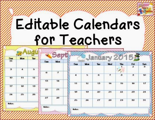 Calendar clipart teacher. Nyla s crafty teaching