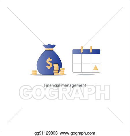Vector illustration pay day. Clipart calendar time frame