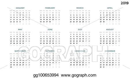 Calendar clipart time period. Eps illustration infographic table
