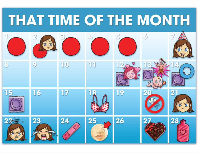 Calendar clipart time period. Map your menstrual cycle