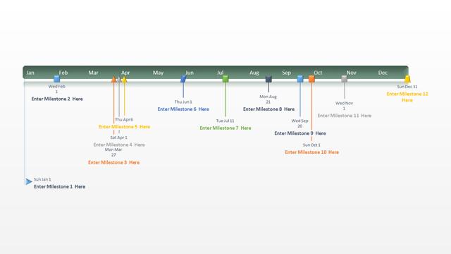 Calendar clipart timeline. Powerpoint incep imagine ex