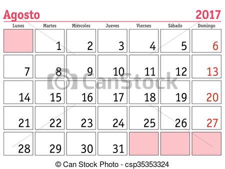 Spanish clipground illustration of. Calendar clipart vector