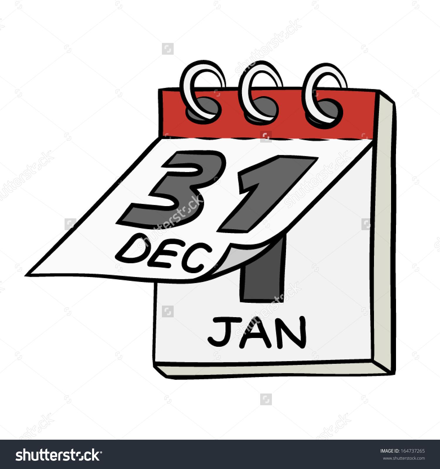 Flip . Calendar clipart vector