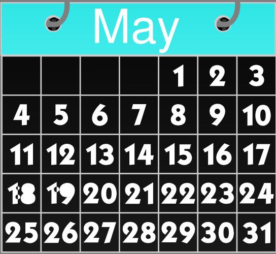 May calendars graphics arts. Calendar clipart vector