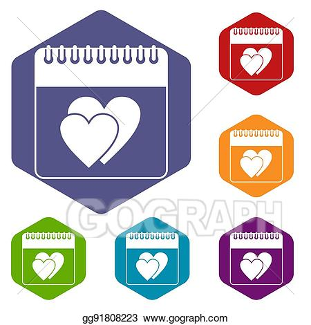 Date day on icons. Calendar clipart wedding