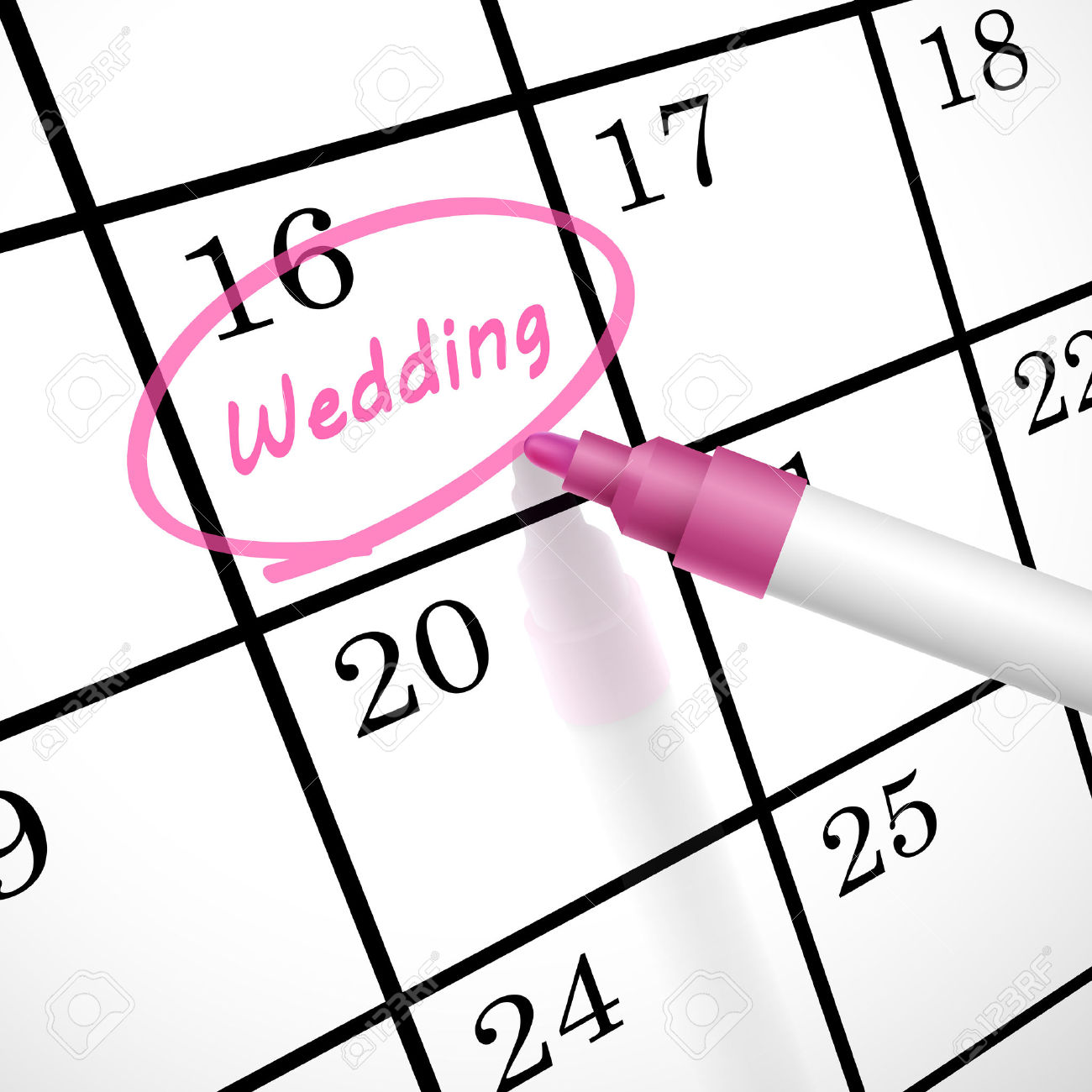 Weddings . Calendar clipart wedding