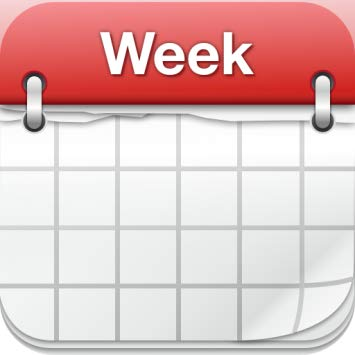 Amazon com week easy. Calendar clipart weekly
