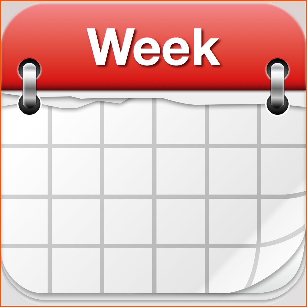 calandar survey template. Calendar clipart weekly