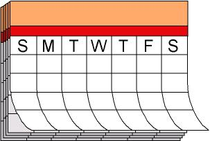 Days of week. Calendar clipart weekly