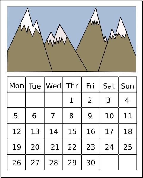 Calendar clipart weekly.