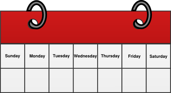 Schedule clipart calendar day. Free weekly cliparts download