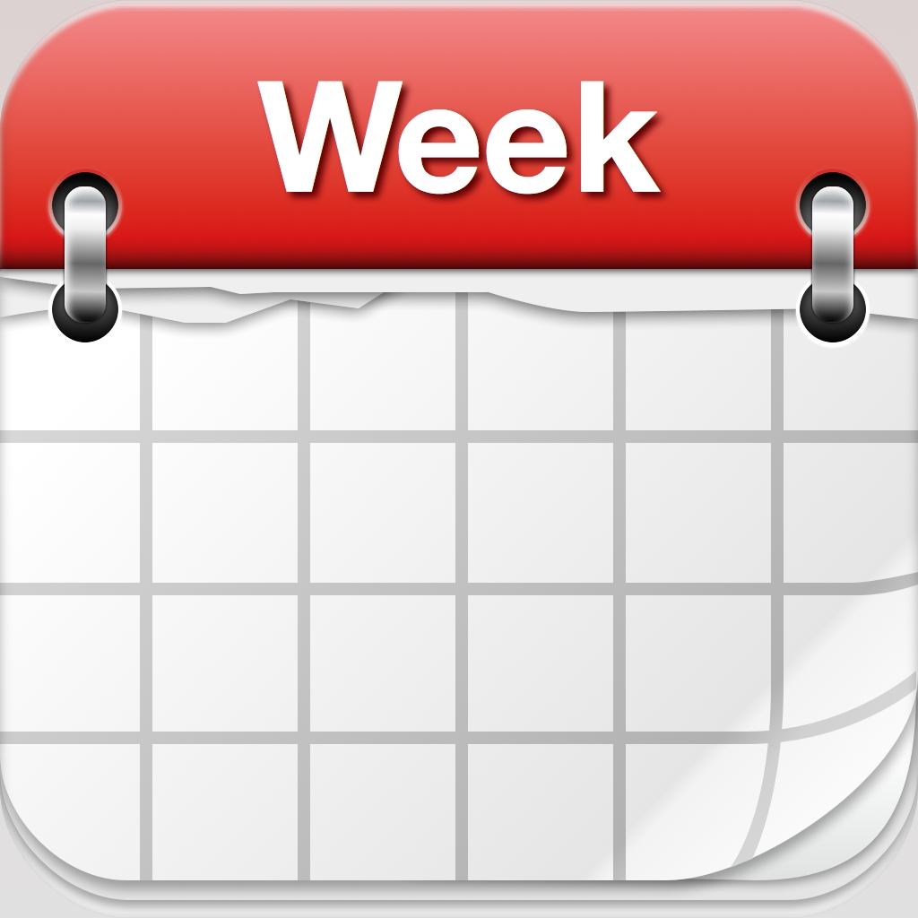 Calendar clipart weekly. Free cliparts download clip