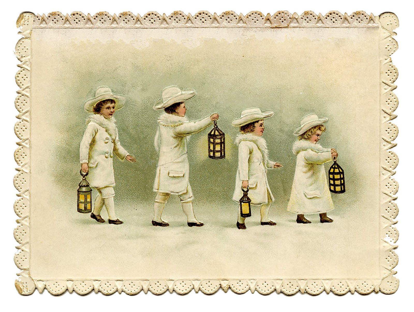 Vintage clip art sweet. Calendar clipart winter