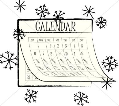 calendar clipart winter #38300653