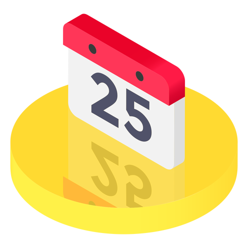 Isometric svg vector. Calendar icon png transparent