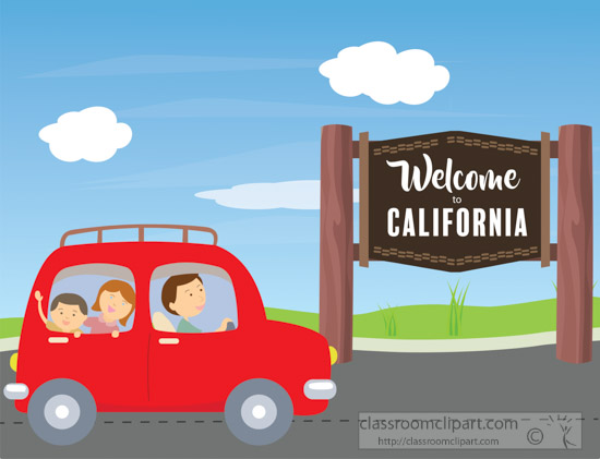 Welcome roadsign to the. California clipart animated