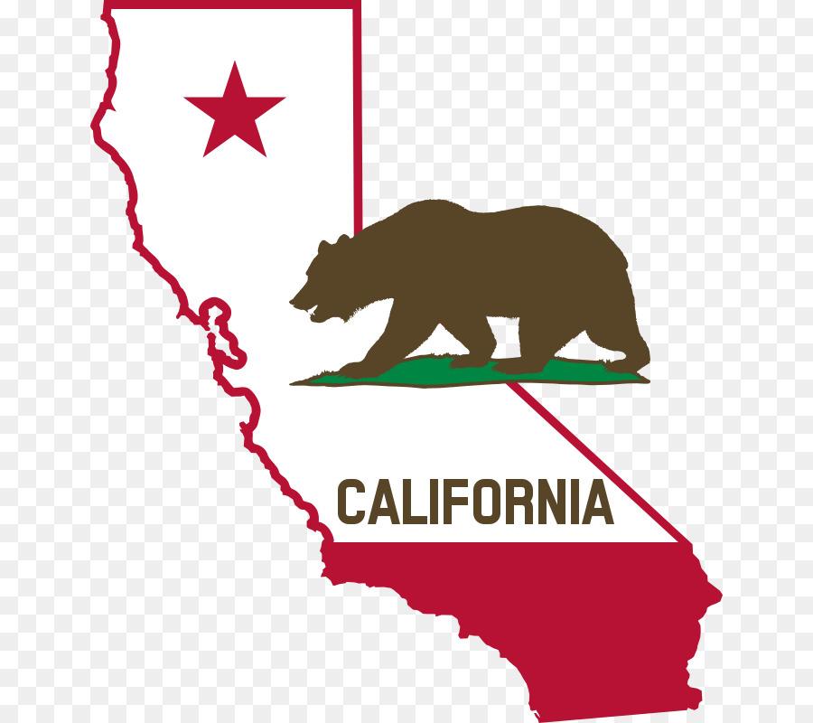 Quality flag of clip. California clipart bear grizzly california