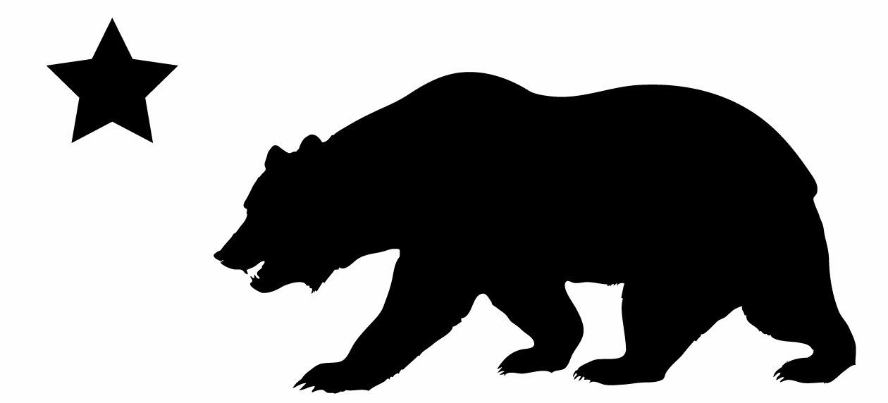 California clipart bear grizzly california. This is a silhouette