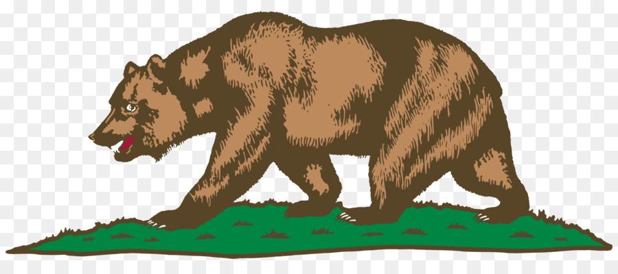 Rainbow transparent clip art. California clipart bear grizzly california