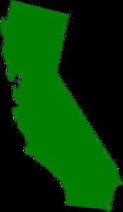 Green state at clker. California clipart clip art
