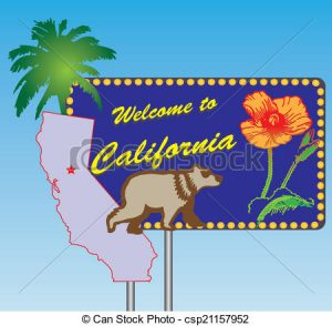 California clipart clip art. Road stand welcome to